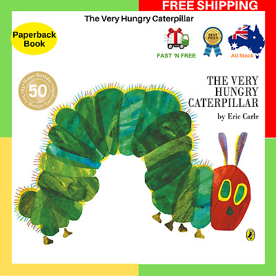 The Very Hungry Caterpillar By Eric Carle Paperback Book Children's Kids Book AU