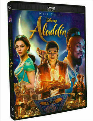 NEW!  Aladdin DVD 2019 (Will Smith) Factory Sealed, US SELLER >>Free Shipping>>>