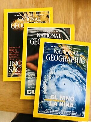 NATIONAL GEOGRAPHIC MAGAZINES x 3no. - MARCH, JUNE & NOVEMBER 1999