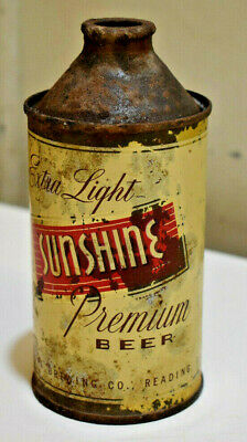 L5049- Sunshine Premium Beer Cone Top Can Sunshine Brewing Company  Reading, PA