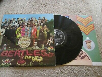The Beatles - Sgt Peppers - With Cutout Sheet - Excellent Condition - Lp Record