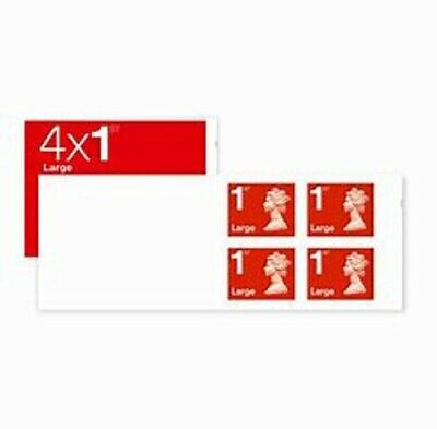 Royal Mail 4 x 1st Class Large UK Stamps Self Adhesive First Class