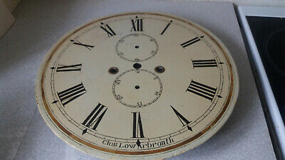 Antique Painted Enamel Grandfather Clock Face / Dial- Charles Low Arbroath