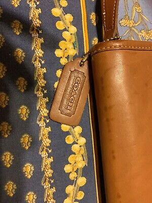"Coach Brown Leather Traveling Man Tie Holder 16"" X 5""  Xclnt !!"