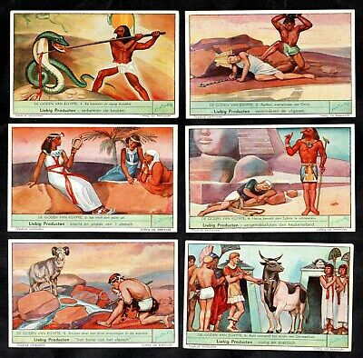 Egyptian Gods Cards Set Liebig 1938 Egypt Ra Horus Isis Osiris Sphinx Ammon Apis