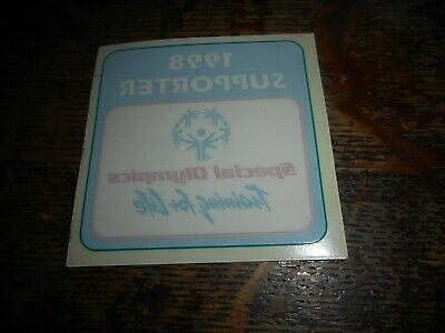 1998 Supporter Special Olympics Training For Life Sticker