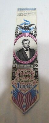 Abraham Lincoln Mourning Stevengraph Silk Embroidered Woven Bookmark T. Stevens