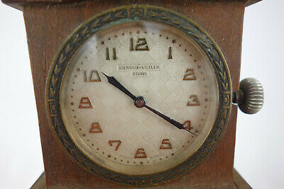1932 Ford Antique Sandoz-Vuille 8 day Travel Auto Car Clock Swiss Made