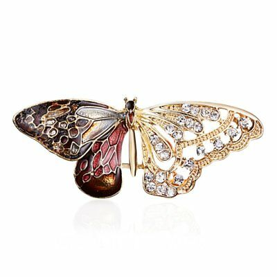 Women Men Unisex Butterfly Insects Brooch Pin Banquet Jewellery Party Gift New