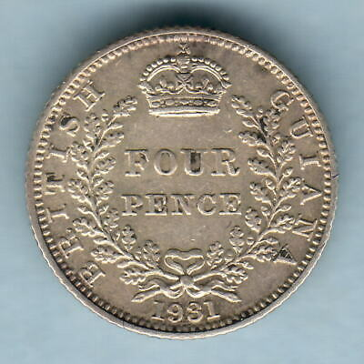 British Guiana. 1931 Fourpence..  gVF/EF - Much Lustre