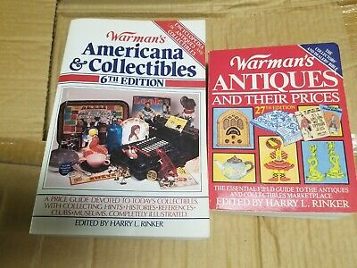 Warmans Americana & Collectibles Book 6th Edition Antique Price Guide Lot Set 2