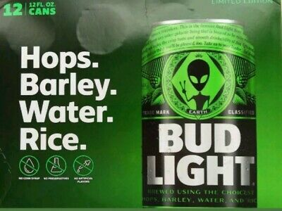 Bud Light STORM AREA 51 Green Alien Cans 12 PACK - BRAND NEW - Very Limited...