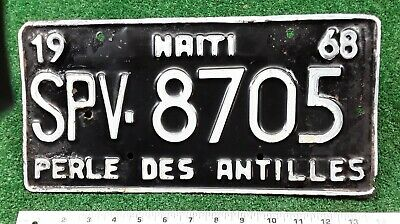 HAITI - 1968 SPV series State Owned license plate, scarce type, used two years