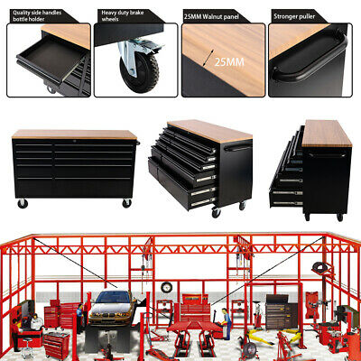 Compartment Workshop Equipment Tool Chest Garage Storage Tool Boxes with 4 Wheel