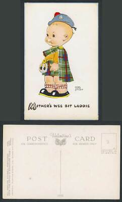 MABEL LUCIE ATTWELL Old Postcard Mither's Wee Bit Laddie, Scottish Baby Boy 1432