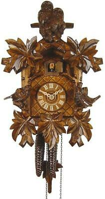 August Schwer Authentic Black Forest Cuckoo Clock with Two Owls 1-Day Movement