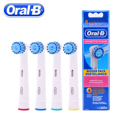 BRAUN ORAL-B SENSITIVE ELECTRIC TOOTHBRUSH REPLACEMENT BRUSH HEADS color rings