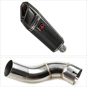 Lextek SP8C Carbon Fibre BS Exhaust End Can & Link Pipe Kawasaki Z900 2017-2019