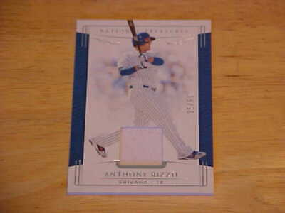 Anthony Rizzo 2019 National Treasures Game Used Jersey 25/99  Chicago Cubs