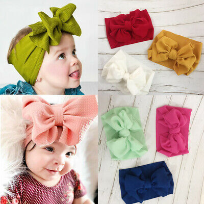 Kids Girl Baby Headband Toddler Lace Bow Flower Hair Band Lovely Headwear New