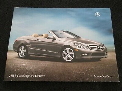 2011 Mercedes Benz E-class Coupe & Cabriolet Catalog E350 E550 Conv Brochure