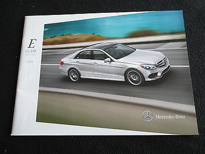 2014 Mercedes Benz E-class Sedan & Wagon E350 E550 E400 Hybrid E63 AMG Brochure