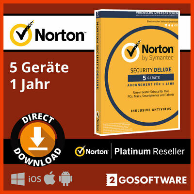 Norton Security Deluxe 2020 5 Devices 1Year Code Virus Protection Email Delivery