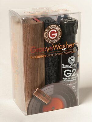 Groove Washer Walnut Record Cleaning Kit Reinigungs Set mit Bürste