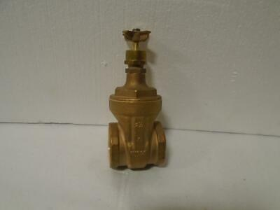 NEW NIBCO 1-1/4 Pipe, Class 125, Threaded Bronze Solid Wedge Stem Gate Valve R51
