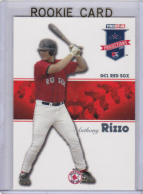ANTHONY RIZZO ROOKIE CARD 2008 Projections RC Baseball RED SOX CHICAGO CUBS!