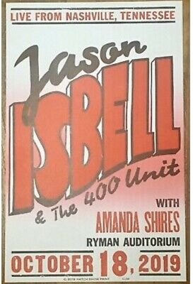 Limited Edition JASON ISBELL Hatch Show Print