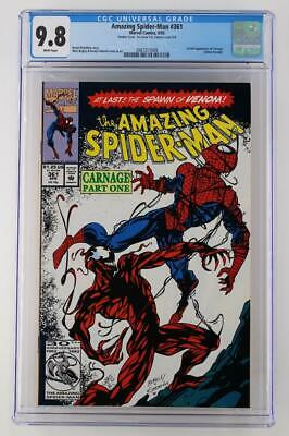 Amazing Spider-Man #361 - CGC 9.8 -Marvel 1992- 1st App Carnage - Double Cover!