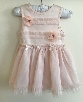 Nanette Lepore girls 6-9 Months Baby Girl's Pink Dress with Button Snaps