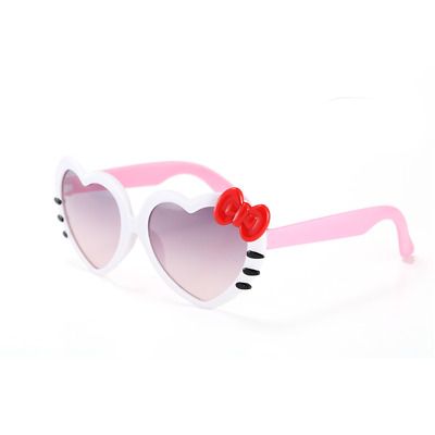 1Pc Cartoon Child Uv Protection Sunglasses Baby Girl Kids Peach Heart Bow