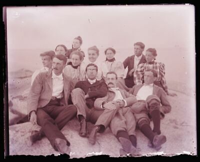 "(1) LATE 1800s EARLY 1900s GLASS NEGATIVE, MARKED: ""A GROUP OF THE HOODOO'S"""