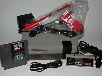 Nintendo NES System Console NEW 72 PIN with Super Mario Bros/ Duck Hunt Zapp Gun