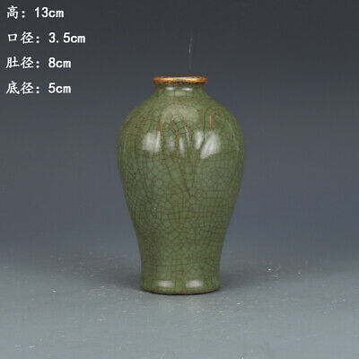 Chinese ancient antique hand make Green glaze vase Porcelain  a220