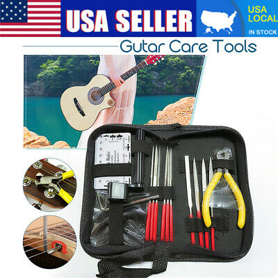 Guitar Care Tool Repairing  Maintenance Cleaning Kit Set For Electric Bass US