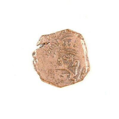 1600's Pirate Treasure Era Spanish Colonial Coin with Holder - Exact Coin 2985