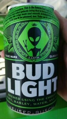 Bud Light Storm Area 51 Green Alien Can - BRAND NEW - Very Limited Edition...