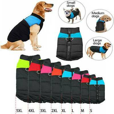 Muti-size Waterproof Dog Clothes Autumn Winter Warm Padded Pets Jacket Vest Coat