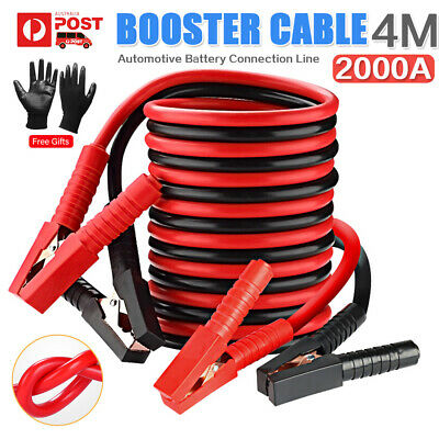 2000AMP Jumper Lead, 4M Long Surge Protected Jump Car Booster Cables Heavy Duty