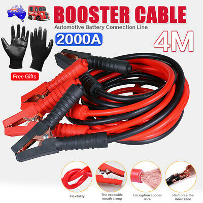2000AMP Jumper Cable| 4M Long| Surge Protected Jump Car Booster Leads Heavy Duty