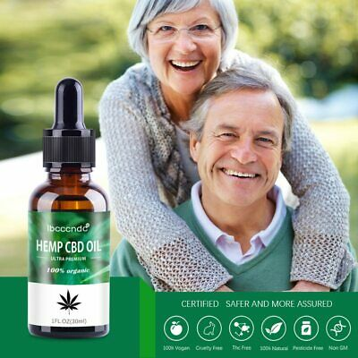 Natural Hemp Oil Extract Premium for Pain Relief, Stress, Anxiety, Sleep 2000mg