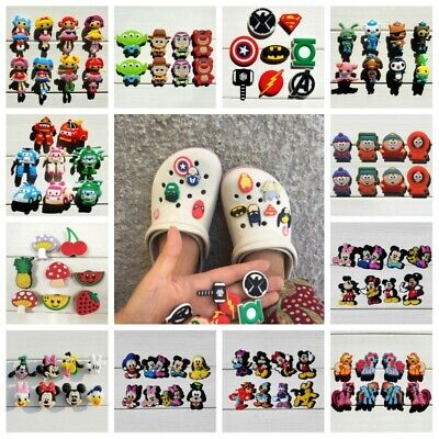 8pcs/lot PVC Shoe Charms Shoe Buckles South Park Mickey Avengers as Gift