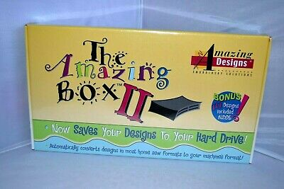 The Amazing Box II Rewritable Embroidery Designs Converter Memory Card Kit / NEW