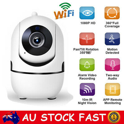 1080P Wireless Wifi IP Camera Home CCTV Security System Webcam Baby Pet Monitor