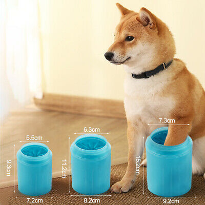 UK Portable Dog Paw Cleaner Pet Cleaning Brush Cup Dog Foot Clean Washer Roller