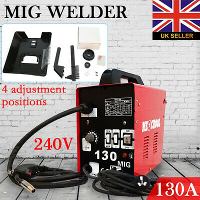 130Amp 240V Gasless Welder Professional No-Gas Mig Welding Machine MIG130 Welder