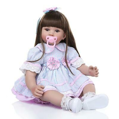 """24"""" Reborn Baby Dolls Weighted Cloth Body Toddler Girl Doll Real Size Xmas Gifts"""
